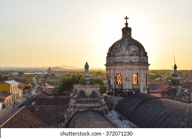 Granada, Nicaragua, May 17, 2015: Scenes of daily life in the colonial city of Granada in central Nicaragua, one of the prettiest towns in Central America. General travel imagery for Nicaragua.
