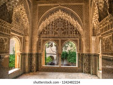 Granada September 17, 2018: Alhambra of Granada, Spain
