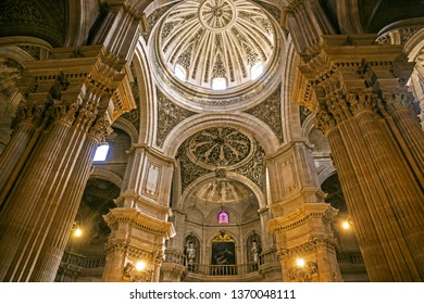 GRANADA, SPAIN - 30 March 2019: Interior of Royal Chapel of Granada Cathedral, Granada, Spain