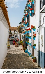 Granada, Spain, April 06, 2018: White houses in the Albaicin district in Granada, Spain