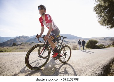 Granada, Spain - February 15, 2017: Tour of Andalucia in Granada, Spain on February 15, 2017