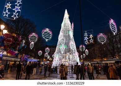 Granada, Spain - January 6, 2017 - Christmas Market, Granada, Province of Granada, Andalusia, Spain, Western Europe