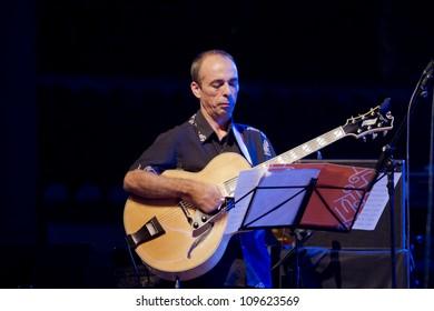 GRANADA, SPAIN - JULY 22: Kiko Aguado and Granada Big Band, at the XXV Jazz Festival of Almunecar on July 22, 2012 in Granada, Spain