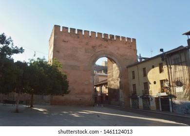 Granada, Spain - July 9, 2019: Gate of Elvira, entrance to Albaicín