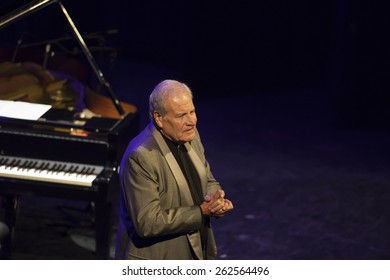 GRANADA - SPAIN, MARCH 15, 2015: XXVII International Tango Festival. Jose Colangelo, piano.