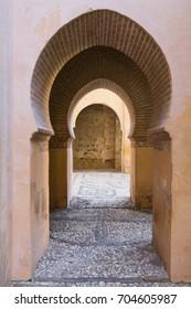 GRANADA, SPAIN, March 20, 2017: A beautiful view of Alhambra in Granada, Andalusia, Spain