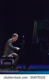 GRANADA - SPAIN, NOVEMBER 10, 2015: Aaron Goldberg trio, at 36 Granada International jazz festival. Aaron Goldberg, piano.