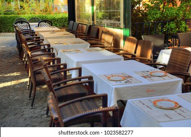 GRANADA SPAIN - OCTOBER 16, 2017: Spanish restaurant serving national food