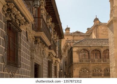 GRANADA, SPAIN - SEPTEMBER 29, 2019. Granada in a daytime, Andalusia, Spain, Europe.