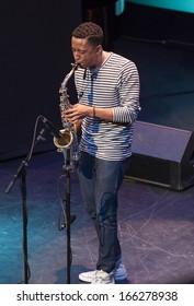 GRANADA, SPAIN-NOVEMBER 7: Braxton Cook, saxo, at the XXXIV International Jazz Festival on November 7, 2013 in Granada, Spain