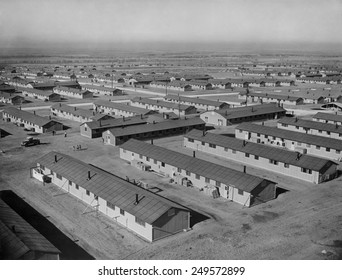 Granada War Relocation Center, the official name of a internment camp for Japanese Americans. During World War 2, the Colorado barracks was surrounded by barbed-wire fencing.