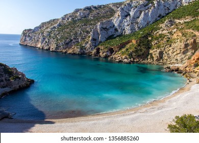 Granadella cove beach in Javea, Spain