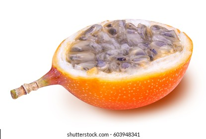 Granadilla fruit isolated on white background with clipping path