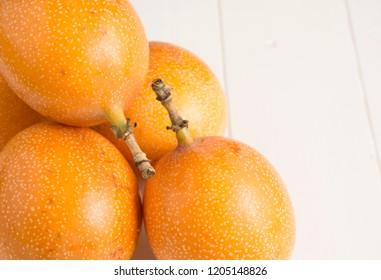 Granadilla fruit, Passiflora ligularis.
