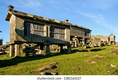 Granaries in National Park of Peneda Geres, Portugal