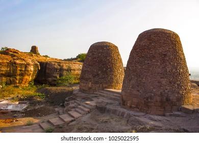 Granaries on the way to Upper Shivalaya – North Fort, Badami
