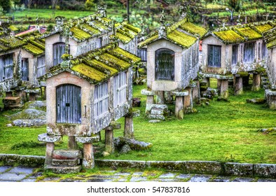 Granaries in the Village of Lindoso, Portugal