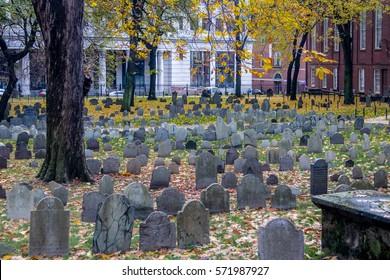 Granary Burying Ground cemetery - Boston, Massachusetts, USA