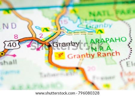 Colorado In Usa Map.Granby Colorado Usa On Map Stock Photo Edit Now 796080328