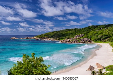 Grand Anse beach on La Digue island, Seychelles