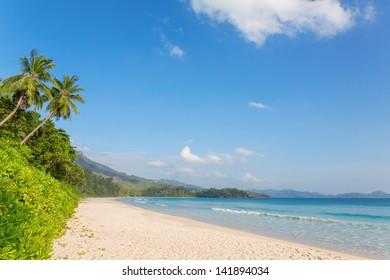Grand' Anse beach on Mahe island, Seychelles