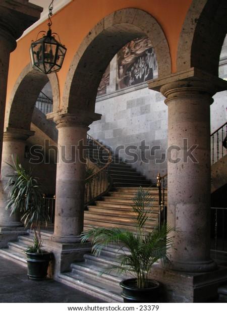 A grand archway in Guadalajara, Mexico.