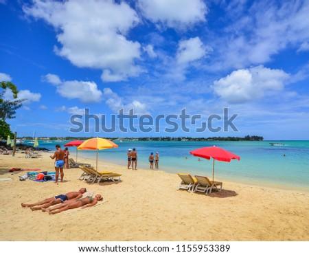 Grand Baie Mauritius Jan 10 2017 Stock Photo (Edit Now