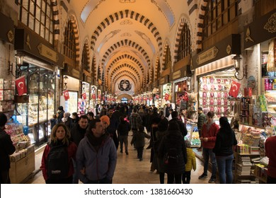 Grand Bazaar istanbul shopping corn bazaar and historical place in Istanbul Grand Bazaar. Istanbul tourist people come to this market. Grand Bazaar istanbul Turkey Country 1 April 2019.