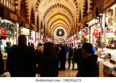 Grand Bazaar istanbul shopping spice bazaar and historical place in Istanbul Grand Bazaar. Istanbul tourist people come to this market. Grand Bazaar istanbul Turkey Country 1 April 2019.