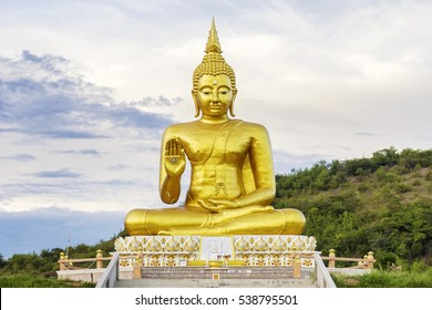 Grand big Buddha sculpture statue landmark