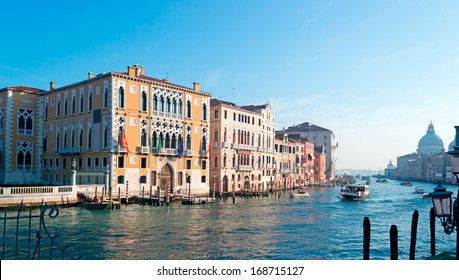 Grand Canal bank under a blue sky