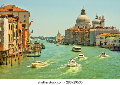 Grand Canal and Basilica Saint Mary of Health in Venice, Italy