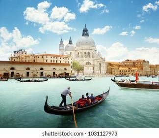 Canal Grande und Basilica Santa Maria della Salute, Venedig, Italien