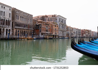 Grand Canal with gondole in Venice, Italy