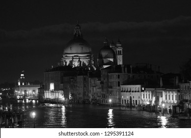 Grand Canal at night - Venice - Italy