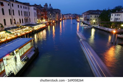 Grand Canal panoramic view  in Venice