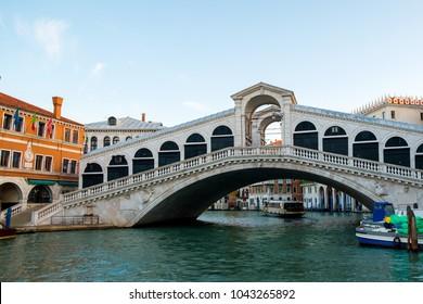 The Grand Canal and Rialto bridge, Venice, Italy