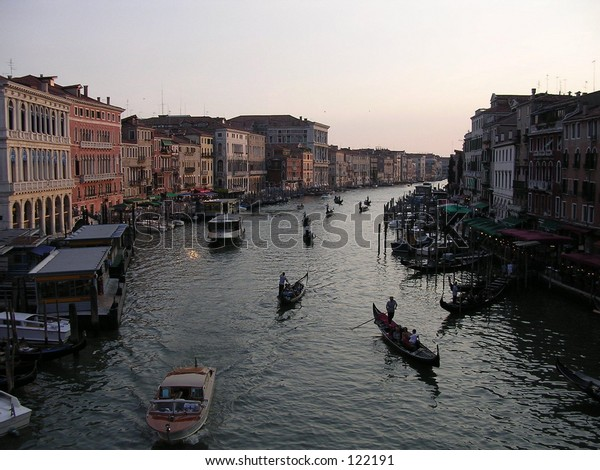 Grand Canal from the Rialto, Venice.