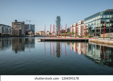 Grand Canal Square in Dublin City, Ireland