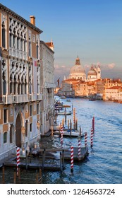 Grand canal at sunset in Venice, Italy