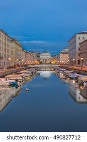 The Grand Canal in Trieste in Italy