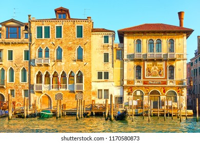 The Grand Canal in Venice in the evening, Italy
