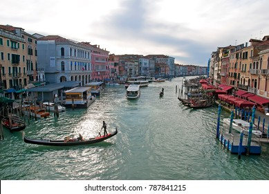 Grand canal in Venice Italy in december
