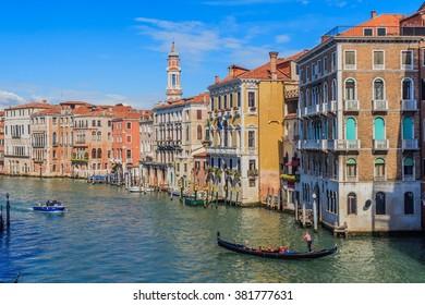 Grand Canal, Venice, Italy from Rialto Bridge