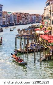 The Grand Canal, Venice, Italy.  Taken from the Rialto Bridge.