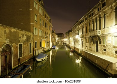 Grand Canal in Venice in night