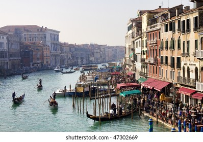 Grand Canal, Venice (view from Rialto bridge)