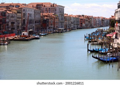 Grand Canal is the widest street of communication on the water in Venice Island in Italy without boats