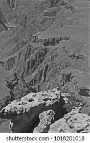 GRAND CANYON, ARIZONA – SEPTEMBER 21, 1979: Grand Canyon view. Vintage picture taken in 1979.