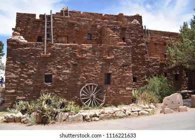 Grand Canyon, AZ., U.S.A. June 6, 2018. Mary E.J. Colter opened The Hopi House in1905 to commemorate adobe pueblo of Hopi Native American Indians seen at Old Oraibi. It is a National Historic Landmark